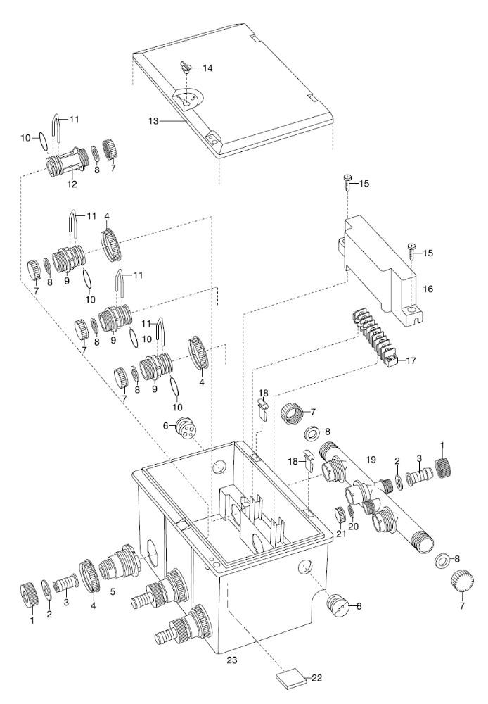ersatzteile gardena ventilschacht v3 1255 ersatzteil fee. Black Bedroom Furniture Sets. Home Design Ideas