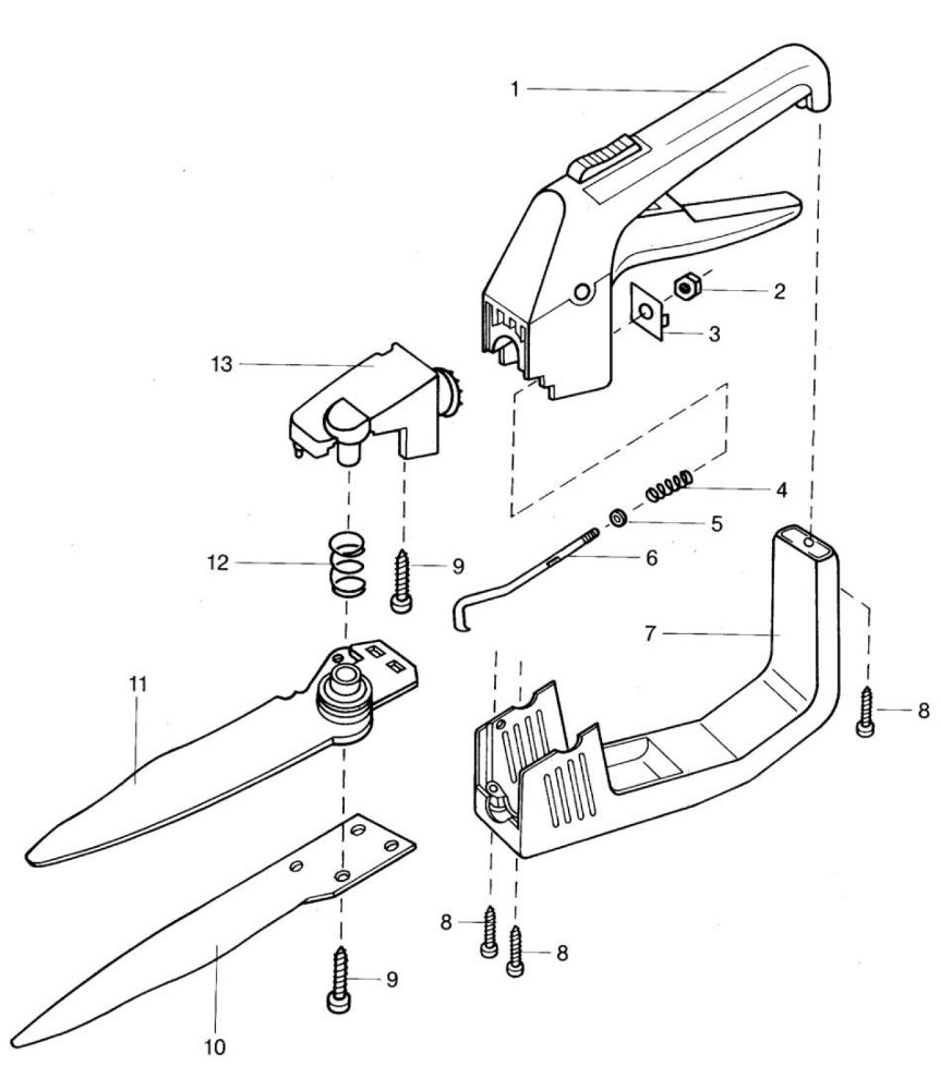 ersatzteile gardena rasenschere ls drehbar 676 ersatzteil fee. Black Bedroom Furniture Sets. Home Design Ideas