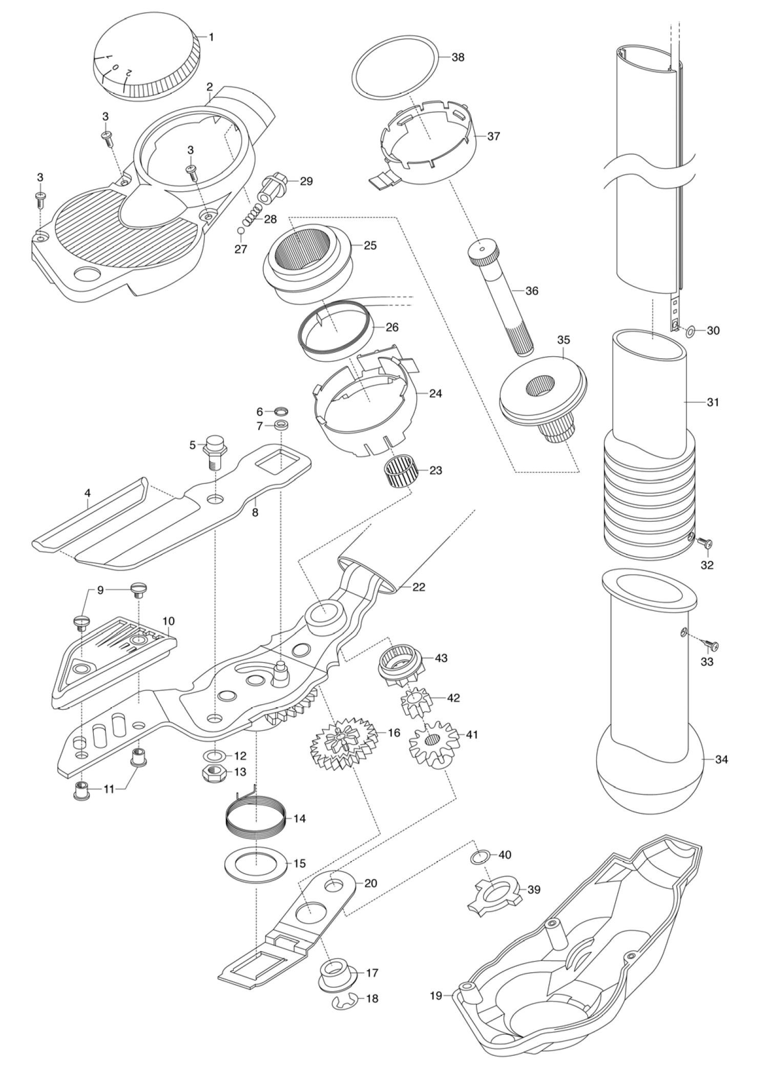 ersatzteile gardena astschneider kurz 115 al 323 ersatzteil fee. Black Bedroom Furniture Sets. Home Design Ideas
