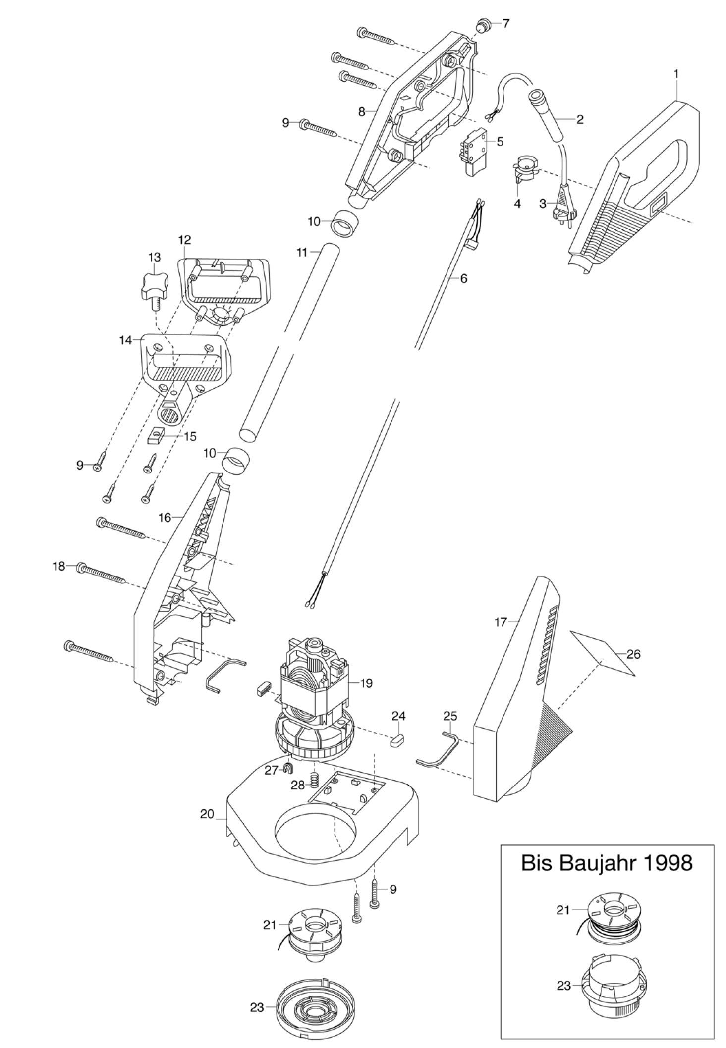 Ersatzteile Gardena Turbotrimmer 400 2554 Ersatzteil Fee