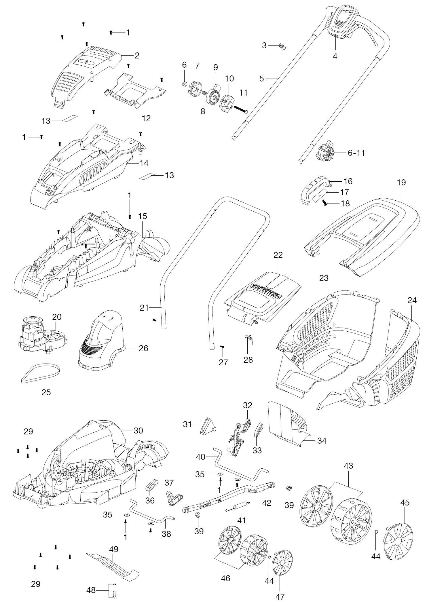 gardena ersatzteile elektro rasenm her powermax 37 e 4075. Black Bedroom Furniture Sets. Home Design Ideas