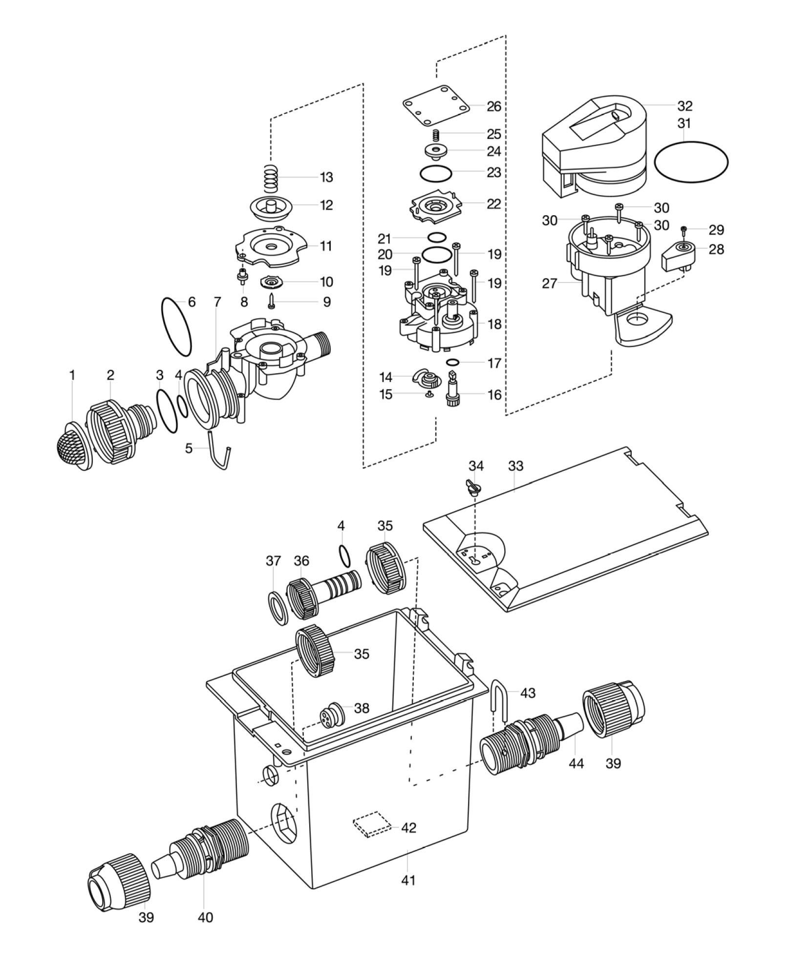 ersatzteile gardena automatikventil 1060 u 1241. Black Bedroom Furniture Sets. Home Design Ideas