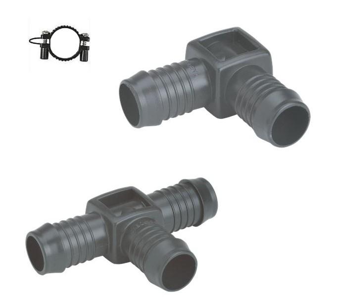 4 x GARDENA T-Stück 1524-23 19 mm   Sprinkler alt