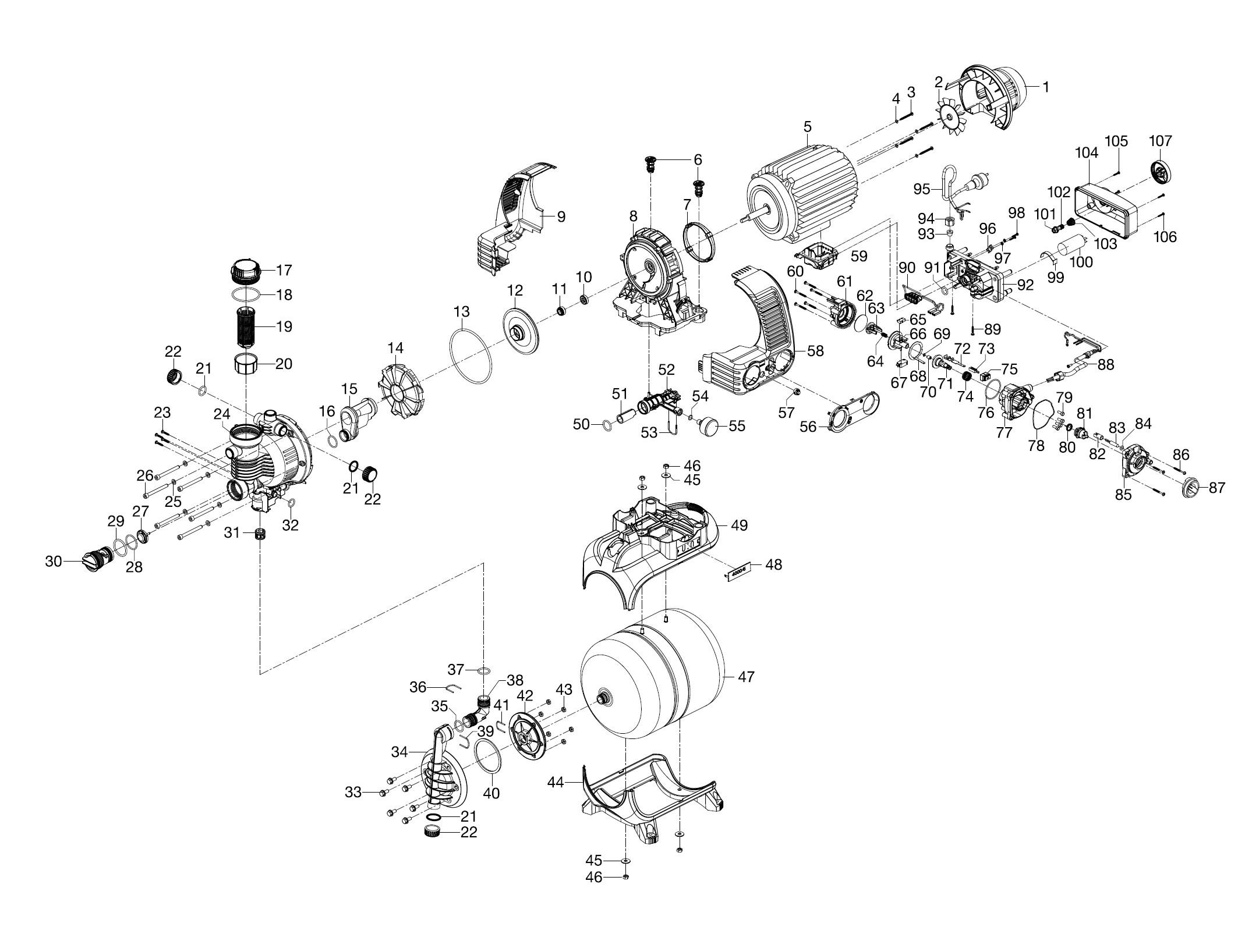ersatzteile gardena hauswasserwerk 5000 5 eco inox 1756. Black Bedroom Furniture Sets. Home Design Ideas
