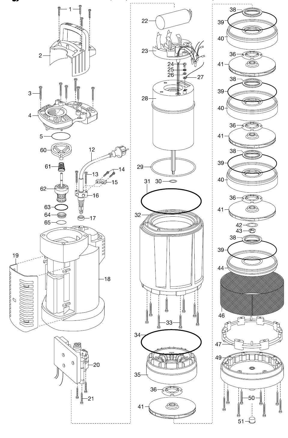 ersatzteile gardena tauch druckpumpe 6000 5 automatic 1476 ab bj 2013 ersatzteil fee. Black Bedroom Furniture Sets. Home Design Ideas