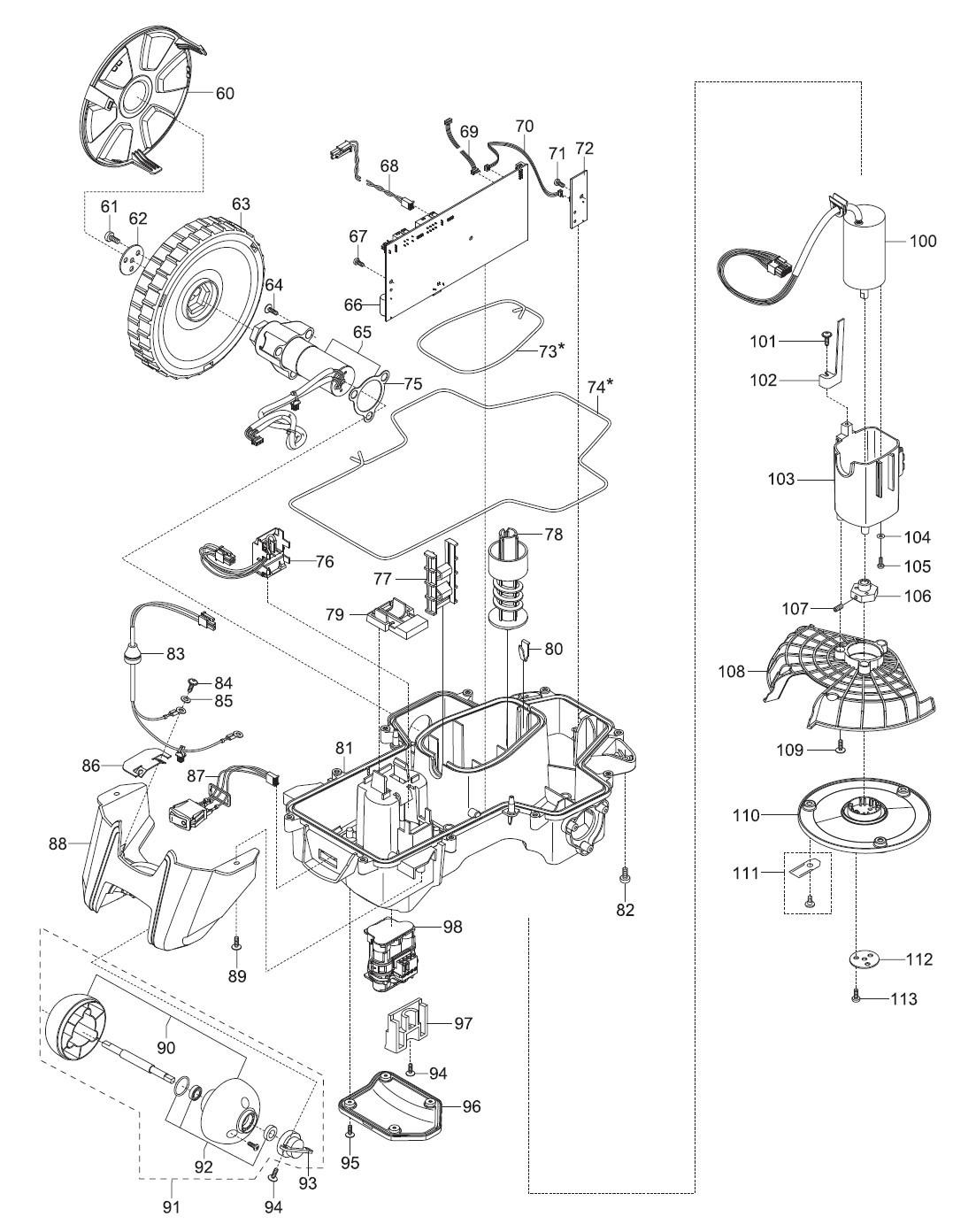 gardena ersatzteile unterteile m hroboter r50li 4077 20. Black Bedroom Furniture Sets. Home Design Ideas