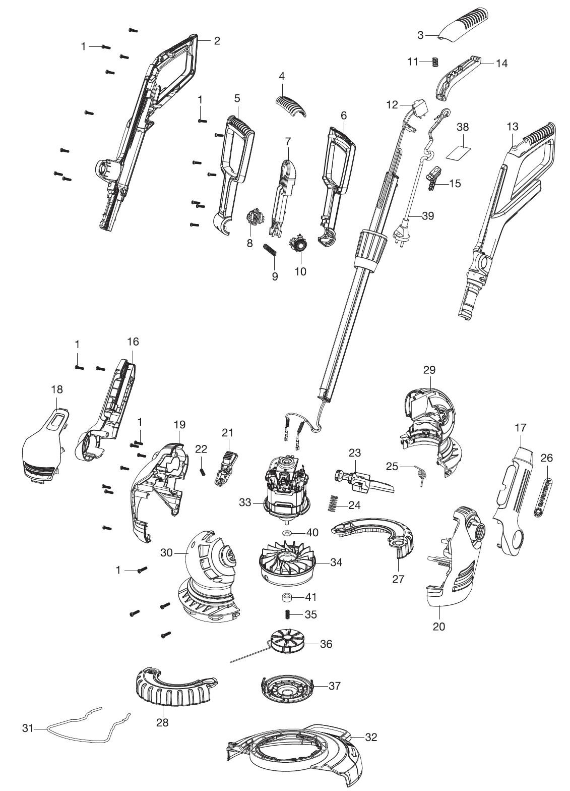 Ersatzteile Gardena Trimmer Comfortcut 45025 9808 Ersatzteil Fee