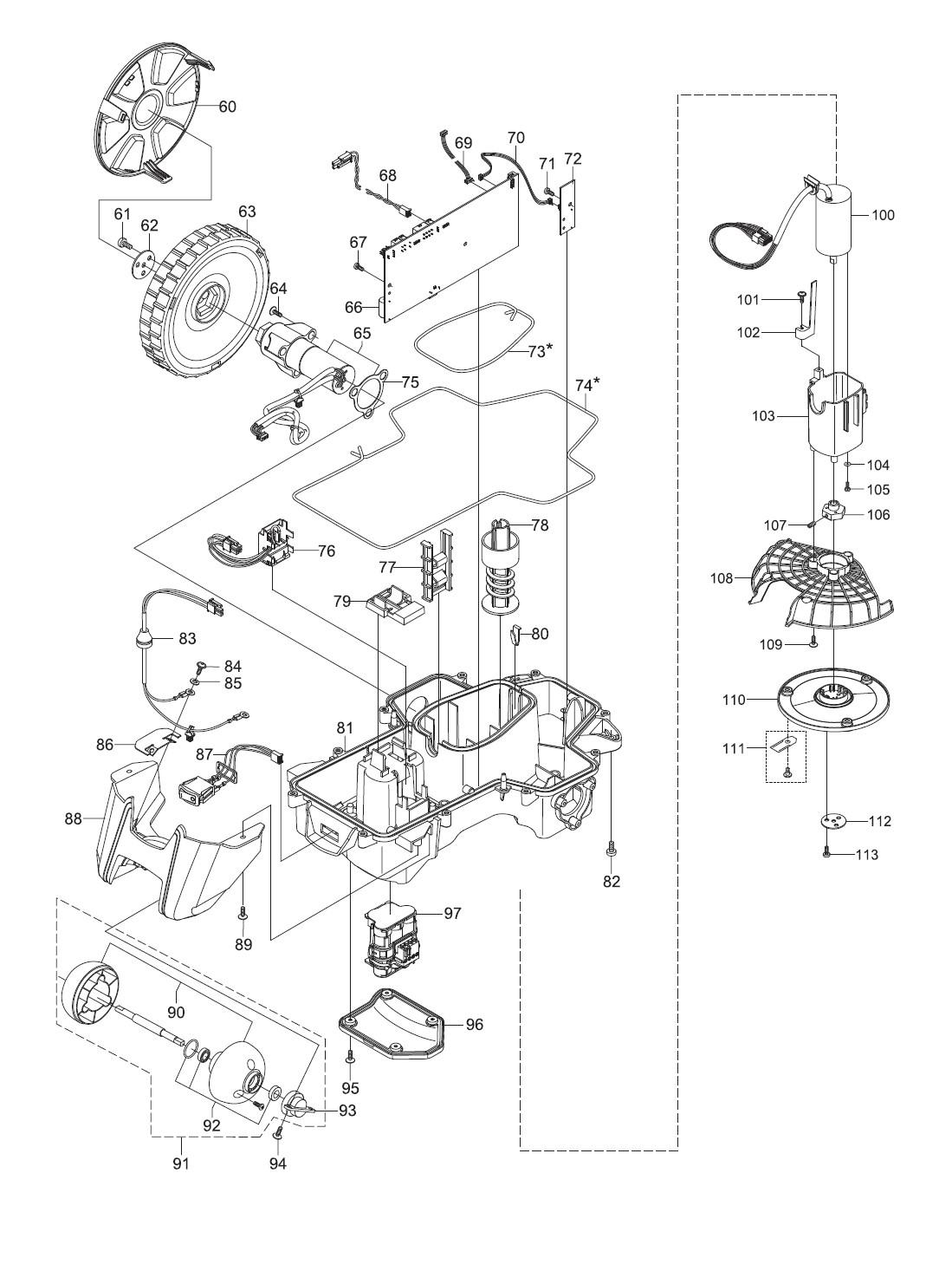 gardena ersatzteile unterteile m hroboter r80li 4069 20. Black Bedroom Furniture Sets. Home Design Ideas