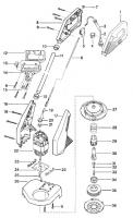 Ersatzteile GARDENA Turbotrimmer 350 Duo 2558