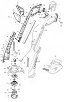 Ersatzteile GARDENA Turbotrimmer SmallCut 300 Accu 8844