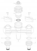 Ersatzteile GARDENA 2-Wege-Verteiler 1210