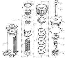 Ersatzteile GARDENA Turbinen-Versenkregner 150 1544