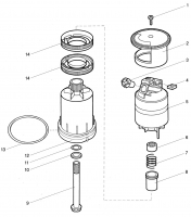 Ersatzteile GARDENA Turbinen-Versenkregner 350 1548