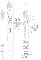 Ersatzteile GARDENA Cleansystem Teleskop-Wasserstiel 155-260 cm 5554