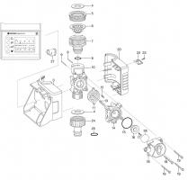 Ersatzteile GARDENA Bewässerungscomputer EasyControl 1881