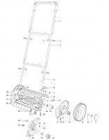 GARDENA Ersatzteile Handrasenmäher 6000 SM 2465