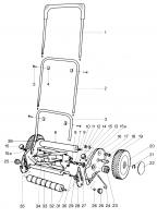 GARDENA Ersatzteile Handrasenmäher 380 S 2455