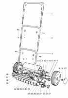 GARDENA Ersatzteile Handrasenmäher 380 SL 2475
