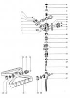 Ersatzteile GARDENA Kreis- und Sektorregner 802/803/807/808/812/817/827