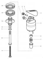 Ersatzteile GARDENA Turbinenregner mit Schlitten 830